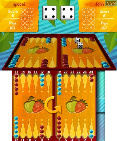 In-game screen of the game Junior Games 3D on Nintendo 3DS