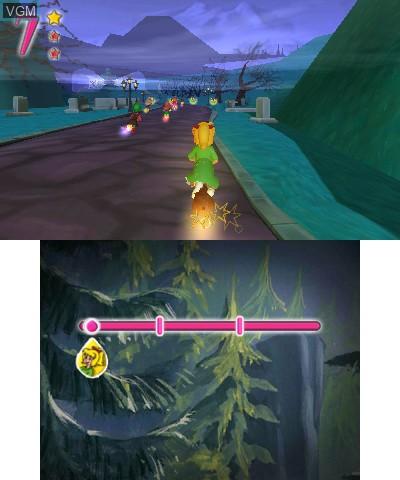 In-game screen of the game Bibi Blocksberg - Das Grosse Hexenbesen-Rennen 2 on Nintendo 3DS