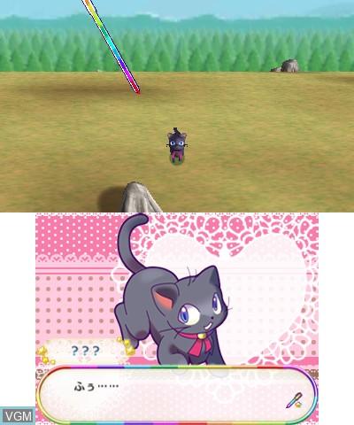 In-game screen of the game Bikkuri! Tobidasu! Mahou no Pen on Nintendo 3DS