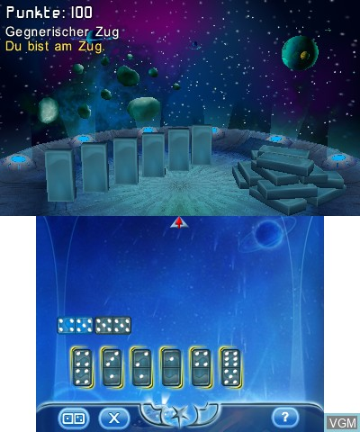 In-game screen of the game 3D Game Collection on Nintendo 3DS