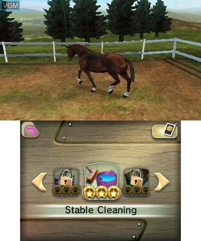 In-game screen of the game I Love My Horse on Nintendo 3DS