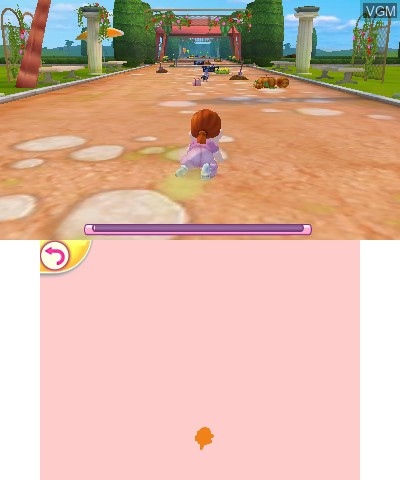 In-game screen of the game I Love My Little Girl on Nintendo 3DS