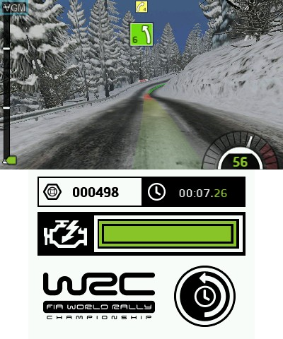 In-game screen of the game WRC - FIA World Rally Championship The Official Game on Nintendo 3DS