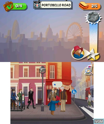 In-game screen of the game Paddington Adventures In London on Nintendo 3DS