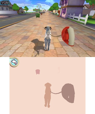 In-game screen of the game I Love My Dogs on Nintendo 3DS