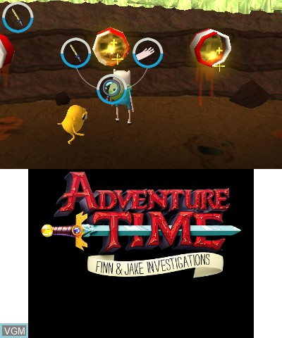 In-game screen of the game Adventure Time - Finn & Jake Investigations on Nintendo 3DS