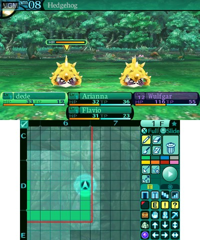 In-game screen of the game Etrian Odyssey 2 Untold - The Fafnir Knight on Nintendo 3DS
