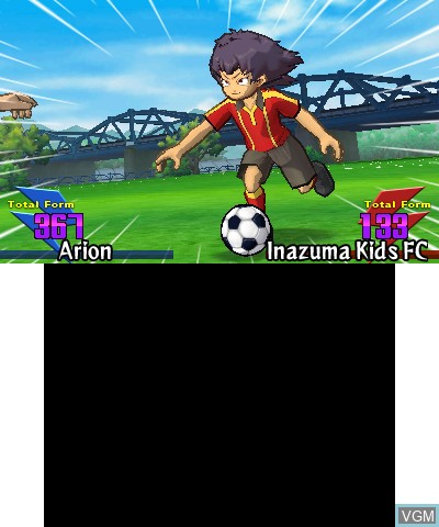 In-game screen of the game Inazuma Eleven Go - Light on Nintendo 3DS