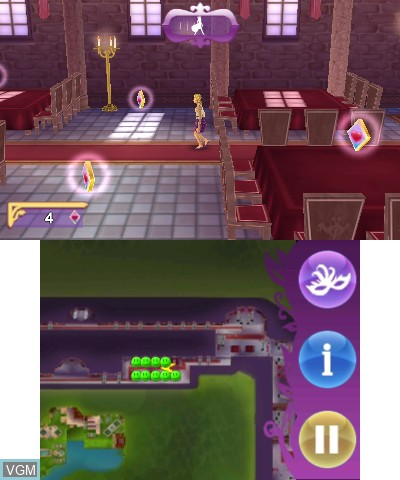 In-game screen of the game Bella Sara 2 on Nintendo 3DS