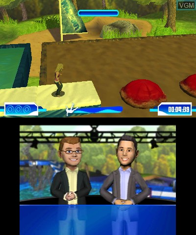 In-game screen of the game Wipeout 2 on Nintendo 3DS
