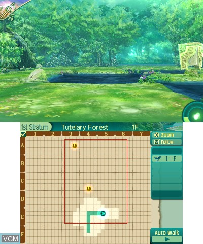 In-game screen of the game Etrian Odyssey V - Beyond the Myth on Nintendo 3DS