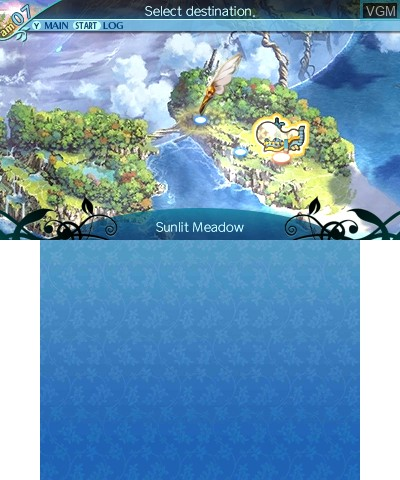 In-game screen of the game Etrian Odyssey Nexus on Nintendo 3DS