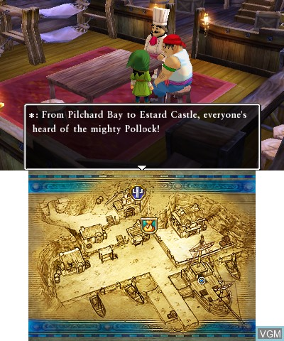 In-game screen of the game Dragon Quest VII - Fragments of the Forgotten Past on Nintendo 3DS
