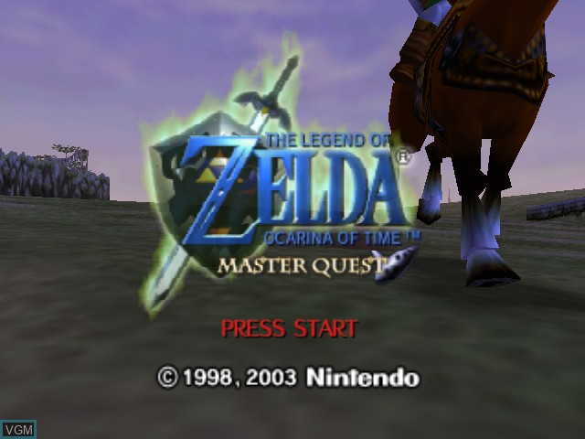 Title screen of the game Legend of Zelda, The - Ocarina of Time - Master Quest on Nintendo 64