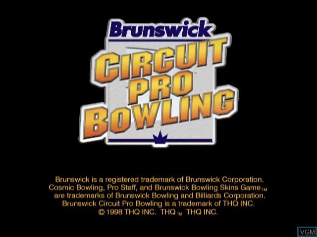 Title screen of the game Brunswick Circuit Pro Bowling on Nintendo 64