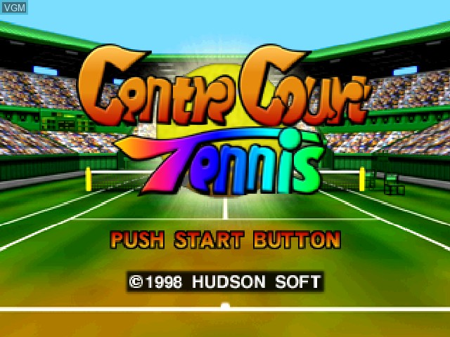 Title screen of the game Centre Court Tennis on Nintendo 64