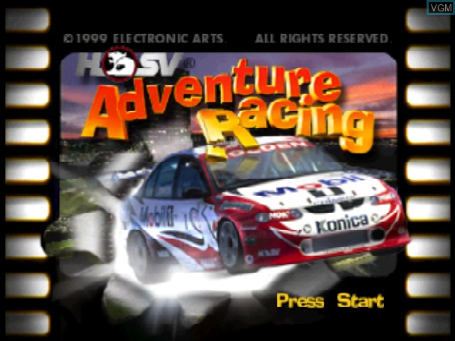 Title screen of the game HSV Adventure Racing on Nintendo 64