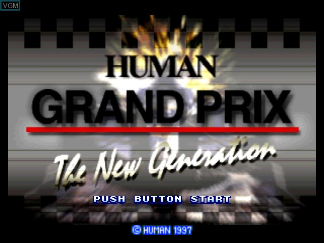Title screen of the game Human Grand Prix - New Generation on Nintendo 64