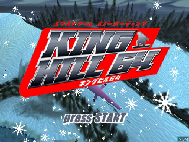 Title screen of the game King Hill 64 - Extreme Snowboarding on Nintendo 64