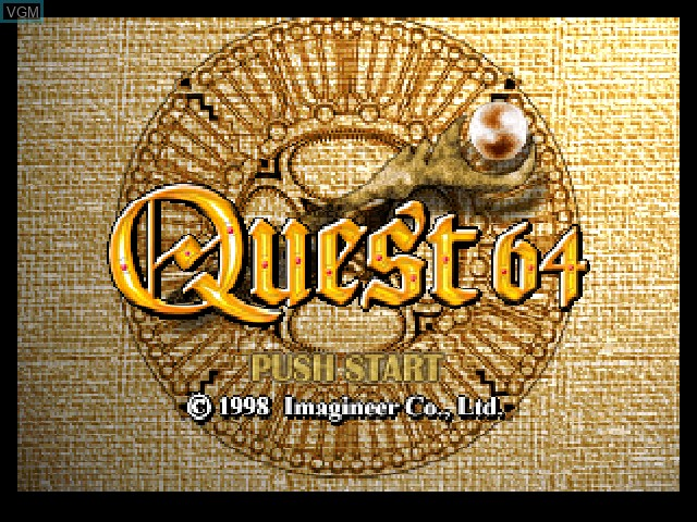 Title screen of the game Quest 64 on Nintendo 64