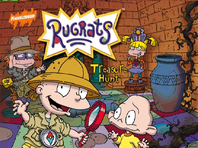Title screen of the game Rugrats - Treasure Hunt on Nintendo 64