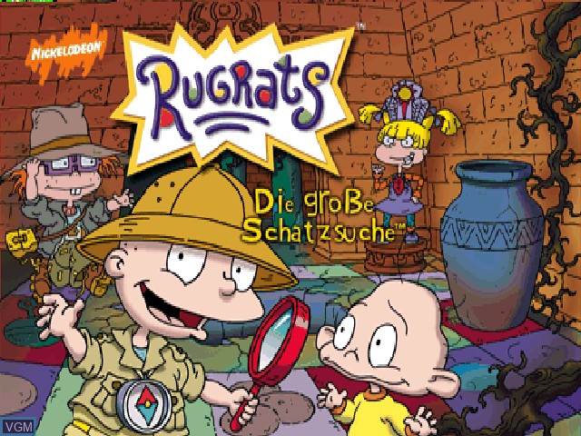 Title screen of the game Rugrats - Die grosse Schatzsuche on Nintendo 64