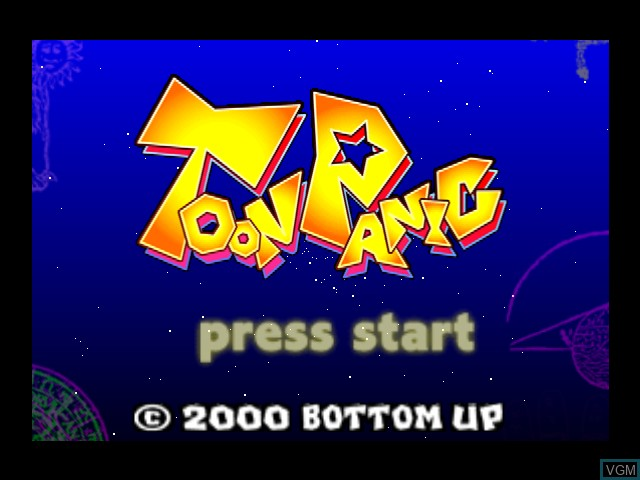 Title screen of the game Toon Panic on Nintendo 64