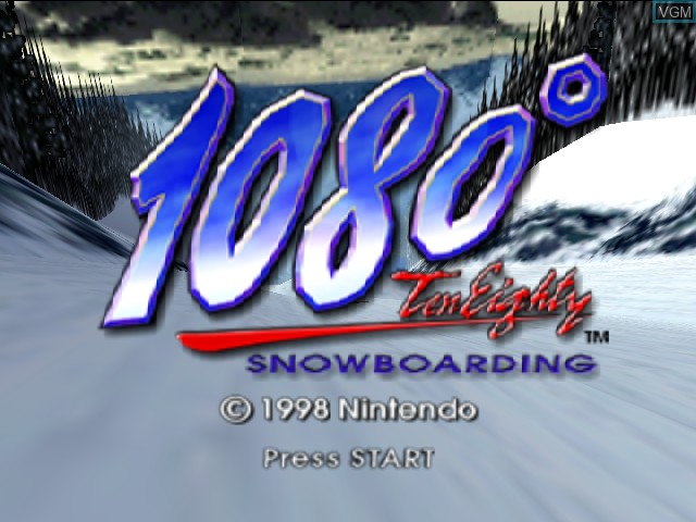 Title screen of the game 1080 Snowboarding on Nintendo 64