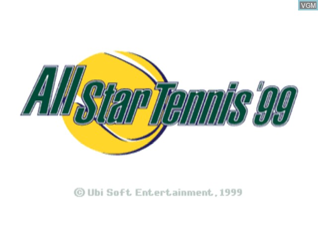 Title screen of the game All Star Tennis '99 on Nintendo 64