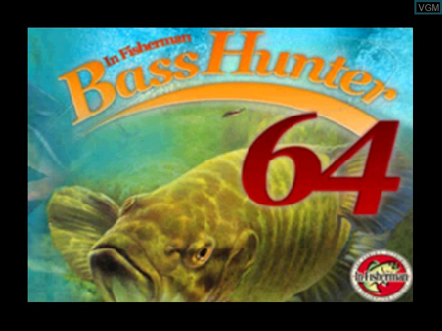 Title screen of the game Bass Hunter 64 on Nintendo 64