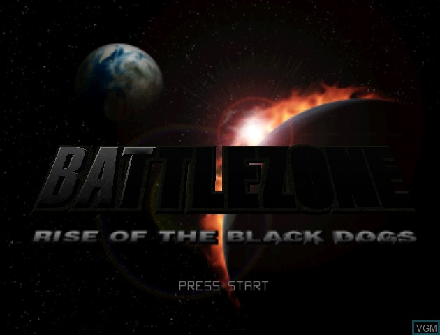 Title screen of the game Battlezone - Rise of the Black Dogs on Nintendo 64