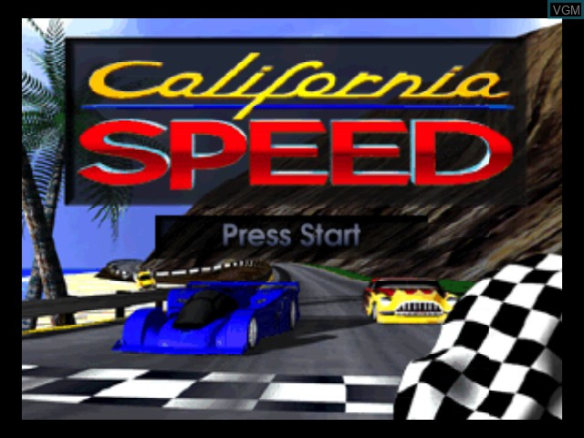 Title screen of the game California Speed on Nintendo 64