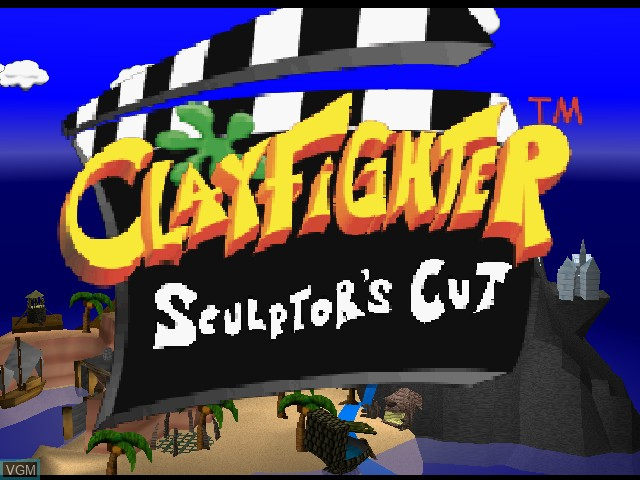 Title screen of the game Clay Fighter - Sculptor's Cut on Nintendo 64