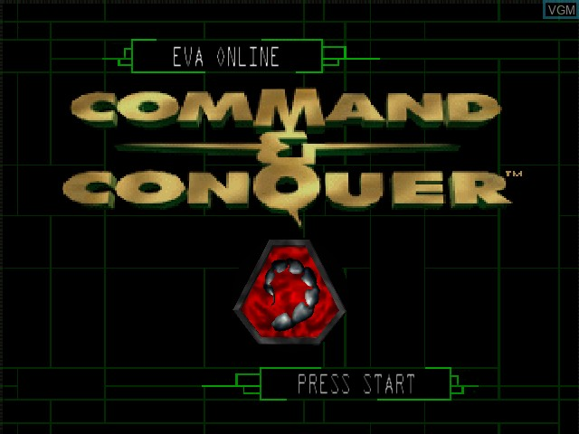 Title screen of the game Command & Conquer on Nintendo 64