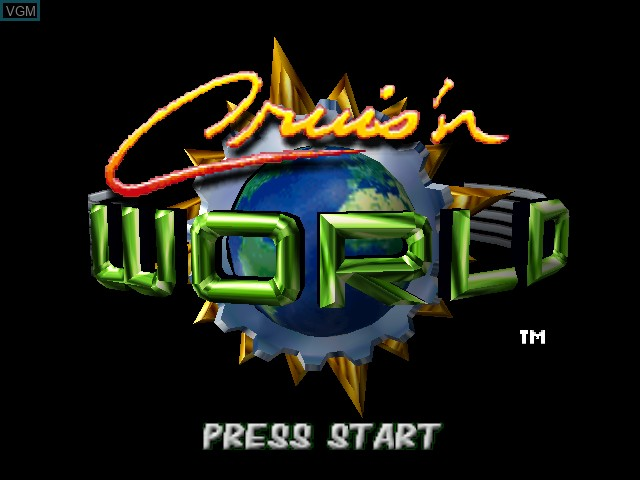 Title screen of the game Cruis'n World on Nintendo 64