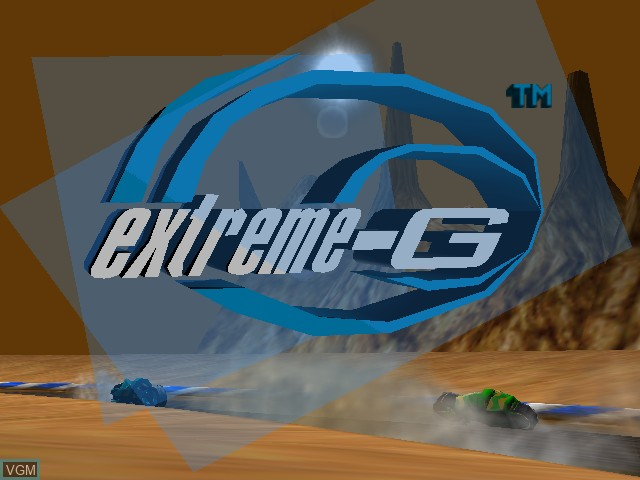 Title screen of the game Extreme-G on Nintendo 64