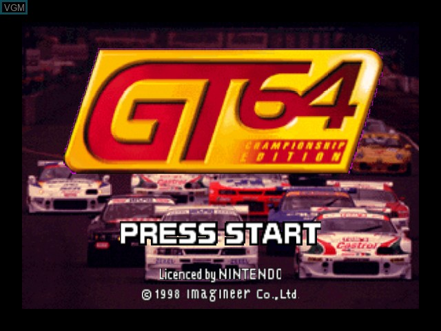 Title screen of the game GT 64 - Championship Edition on Nintendo 64