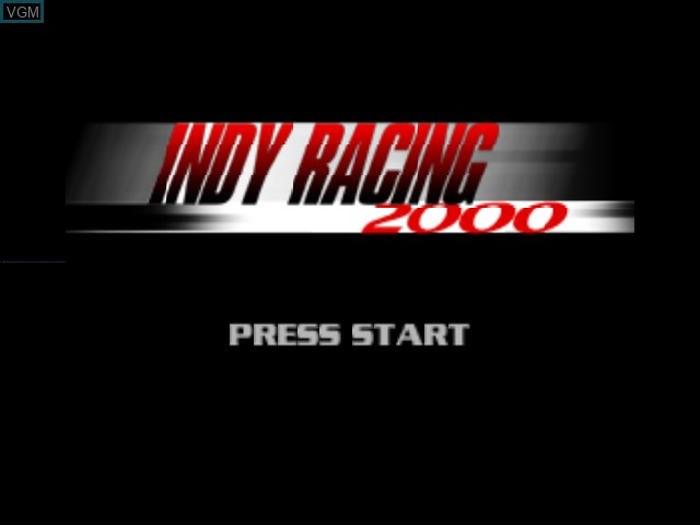 Title screen of the game Indy Racing 2000 on Nintendo 64