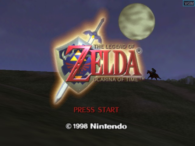 Title screen of the game Legend of Zelda, The - Ocarina of Time on Nintendo 64