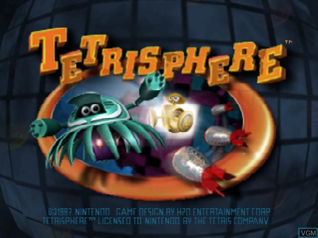 Title screen of the game Tetrisphere on Nintendo 64