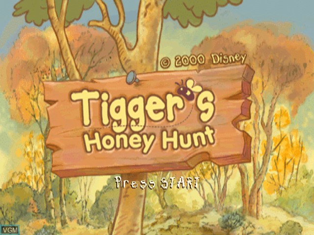 Title screen of the game Tigger's Honey Hunt on Nintendo 64