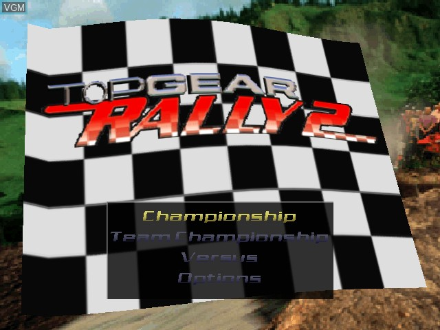 Title screen of the game Top Gear Rally 2 on Nintendo 64