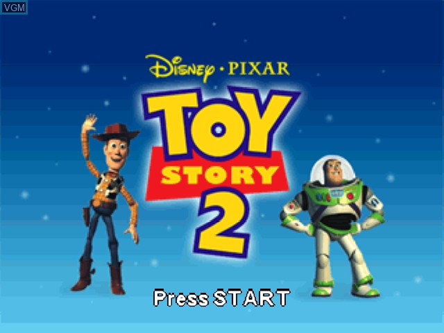 Title screen of the game Toy Story 2 - Buzz Lightyear to the Rescue! on Nintendo 64