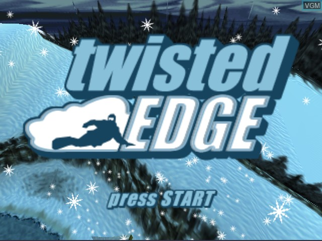Title screen of the game Twisted Edge Extreme Snowboarding on Nintendo 64
