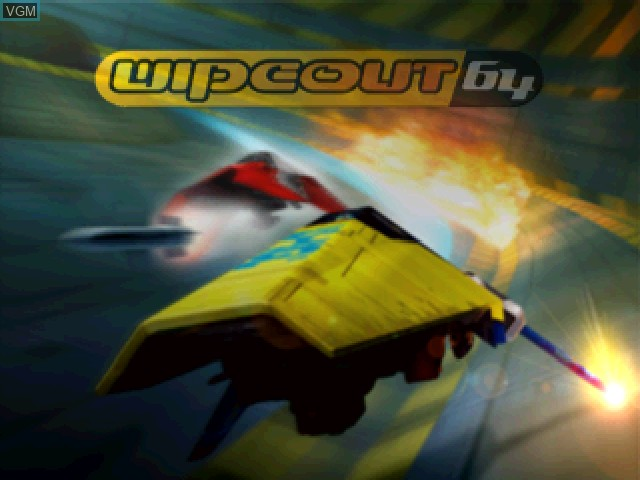 Title screen of the game Wipeout 64 on Nintendo 64