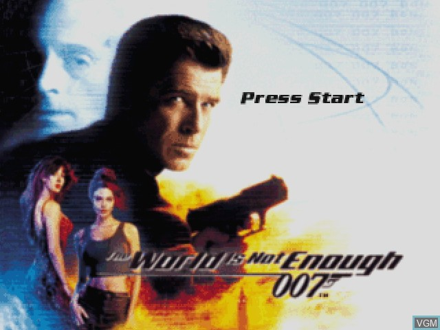 Title screen of the game 007 - The World is Not Enough on Nintendo 64