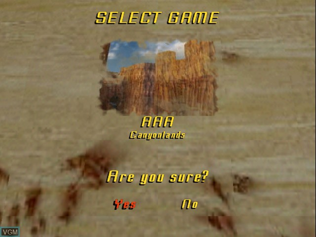 Menu screen of the game Indiana Jones and the Infernal Machine on Nintendo 64
