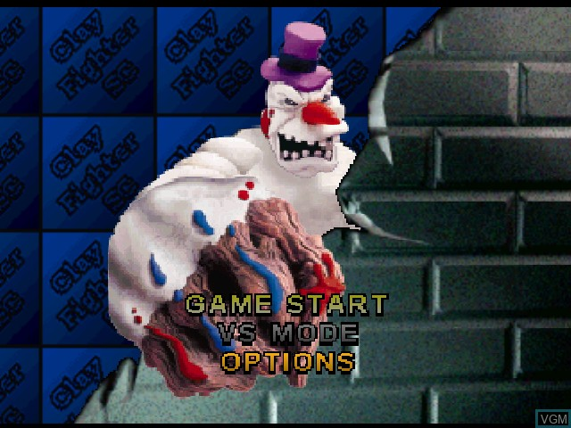 Menu screen of the game Clay Fighter - Sculptor's Cut on Nintendo 64