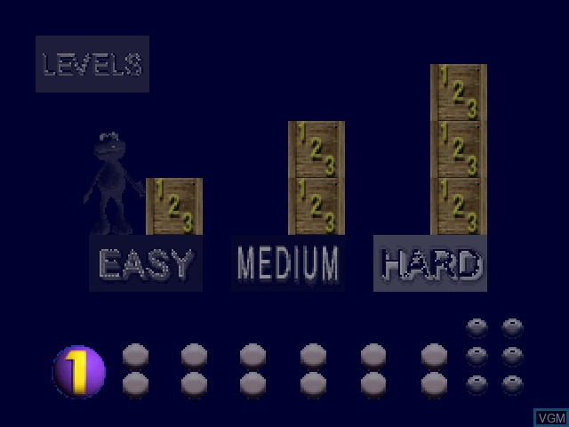 Menu screen of the game Elmo's Number Journey on Nintendo 64