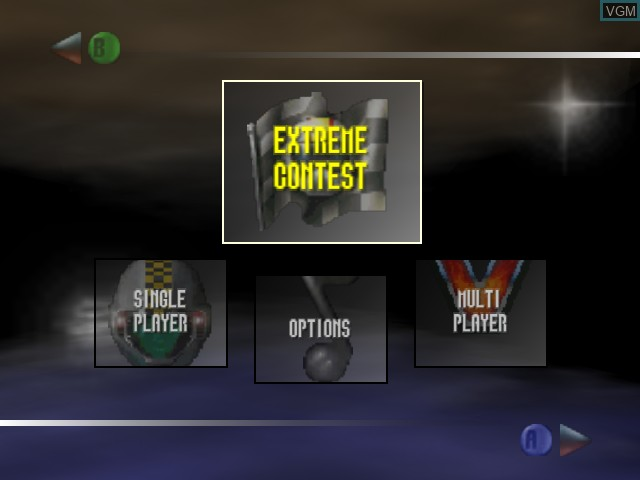 Menu screen of the game Extreme-G on Nintendo 64